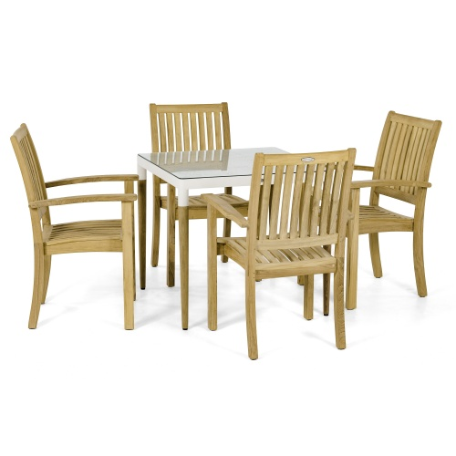 teak square patio dinette set
