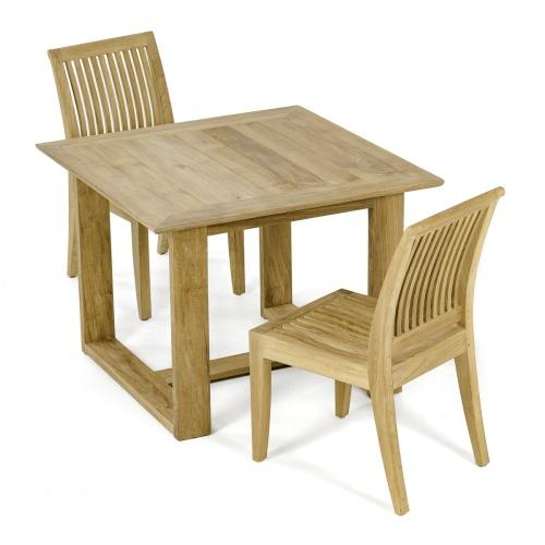 solid teak patio dining set