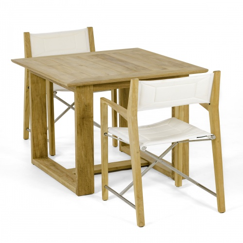 outdoor teak furniture 3 piece set
