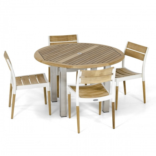 4 person teak outdoor dining table set