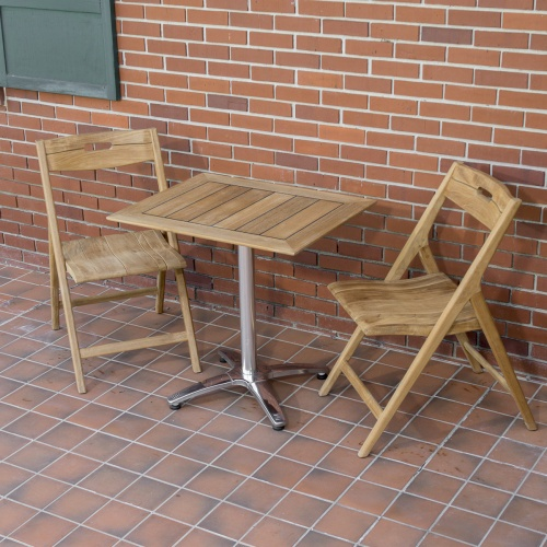 midcentury teak folding dining set