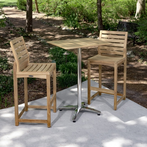 Somerset Rectangular Barstool 3pc Bar Set