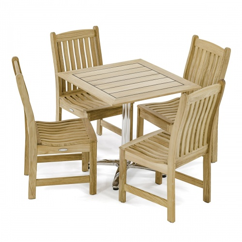 teakwood stainless steel dinette set