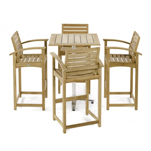 5 Pc Somerset Teak Bar Furniture Set Westminster Teak