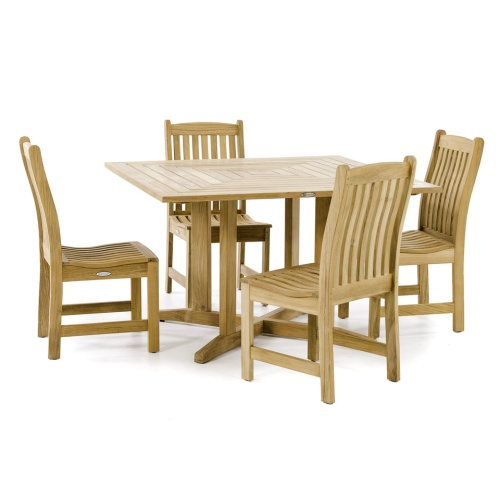 teak dining table set outdoor living