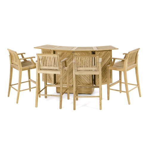 Outdoor Contemporary teakwood bar set
