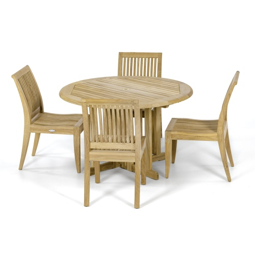 Round Teak Patio Dining Set