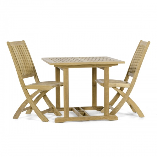 bistro teak table and chair set 2