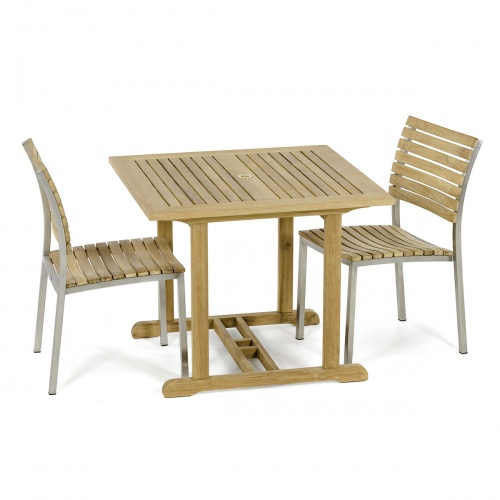 teak stainless steel patio dining sets