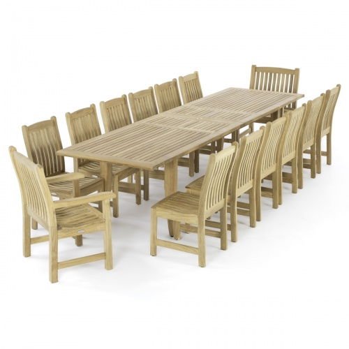 Large Rectangular Premium Teak Dining Sets