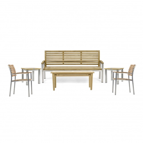 Vogue 6 pc Bench Set outdoor