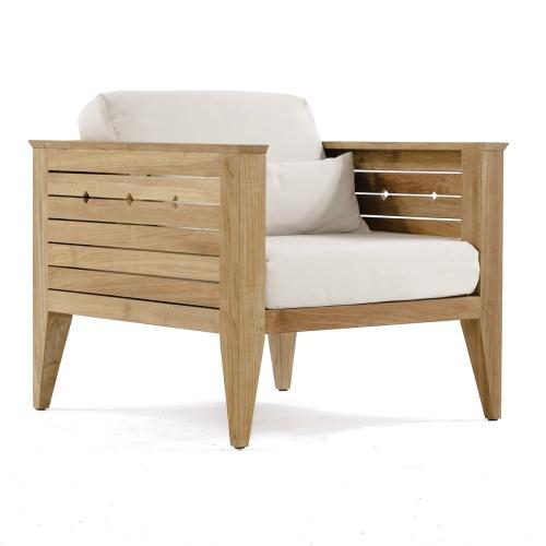 teak firepit seating set