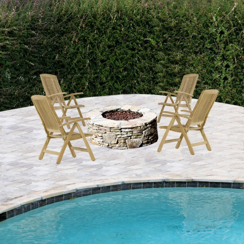 4 pc Recliner Fire Pit Seating Set