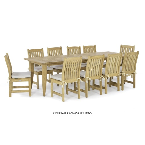 Laguna Veranda 11pc Teak Dining Set