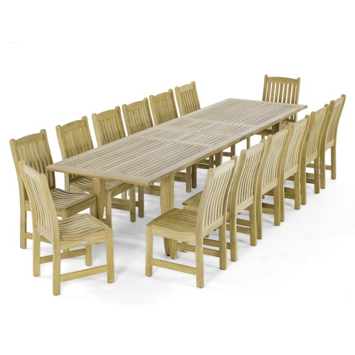 Grand 15pc Teak Dining Set
