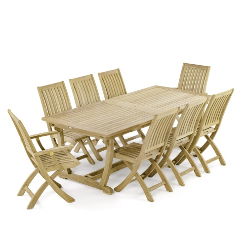 9 pc Veranda Barbuda Teak Set