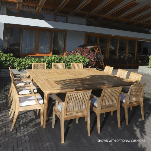 13pc teak patio dining sets