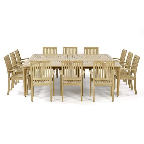 13 piece teak patio dining sets