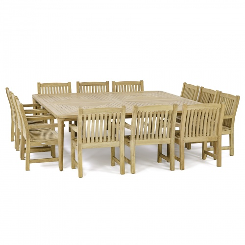 teak patio dining sets for 12