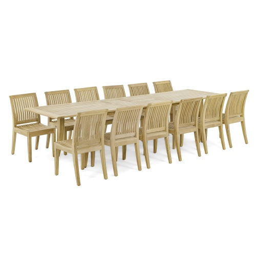 Grand Laguna 15 pc Teak Dining Set