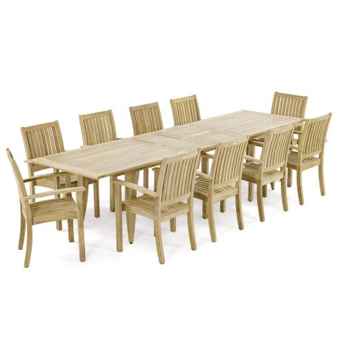 11pc Teak Dining Set
