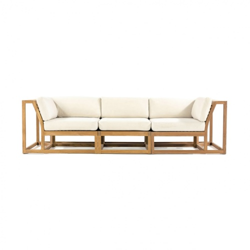 Deep Seating Wooden Sofa