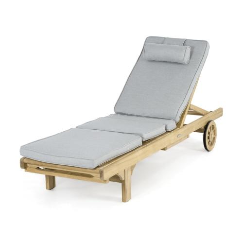 teak lounger cushions