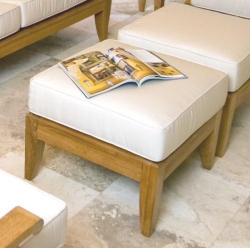 teak ottoman cushions