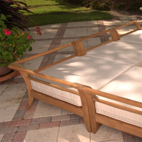 teak sectional cushions
