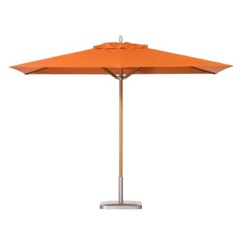 11x6 Rectangular Teak Market Umbrella