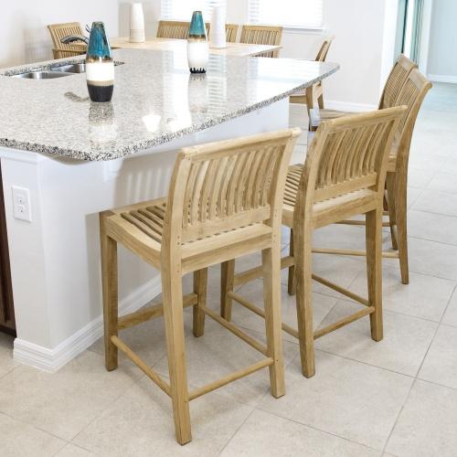 teak bar or counter stool
