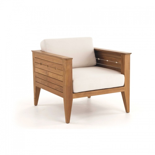 teak lounge chairs outdoors