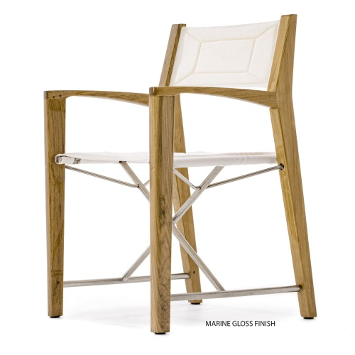 canvas padded seat and back marine directors chair