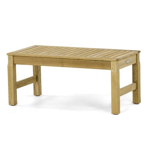 36 inch teak backless bench