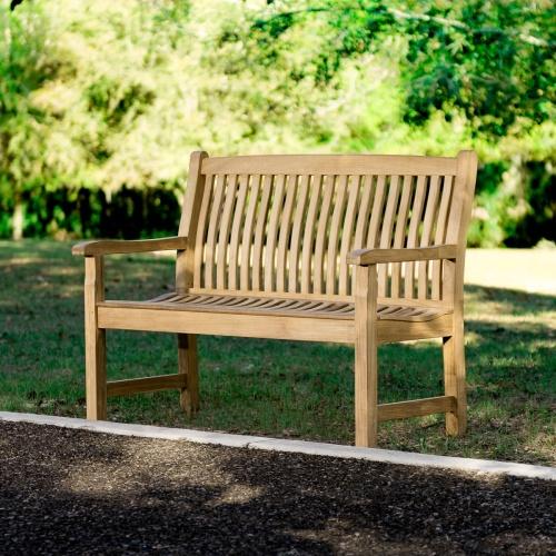4 foot teak garden bench