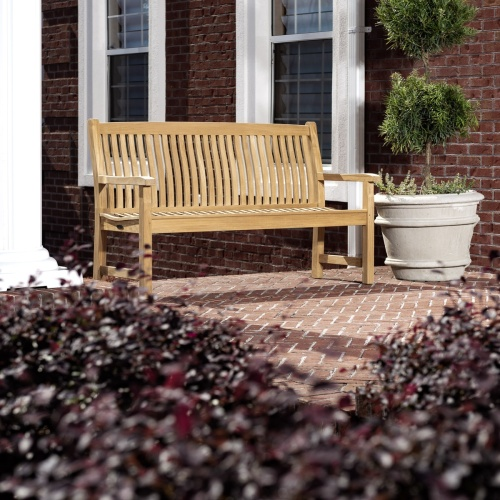 Teak English Garden Bench
