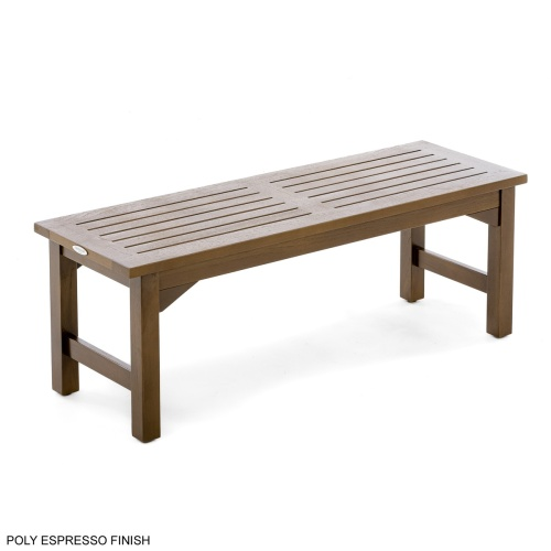 teak bathroom backless spa bench