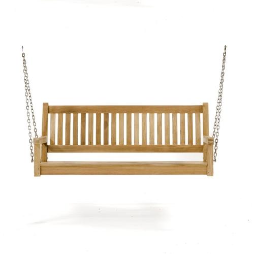 teak outdoor swing bench