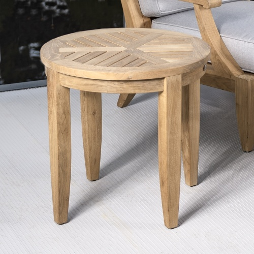 Outdoor Wooden Side Table Teak