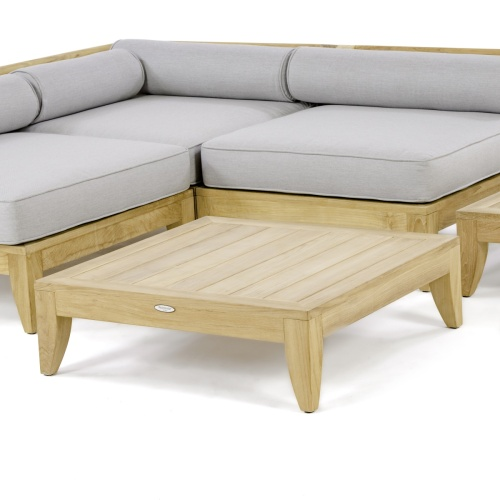 square outdoor teakwood coffee tables