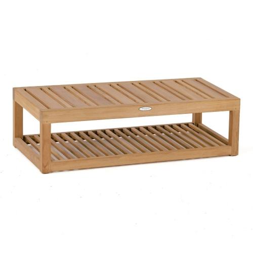 teak relaimed wood end tables