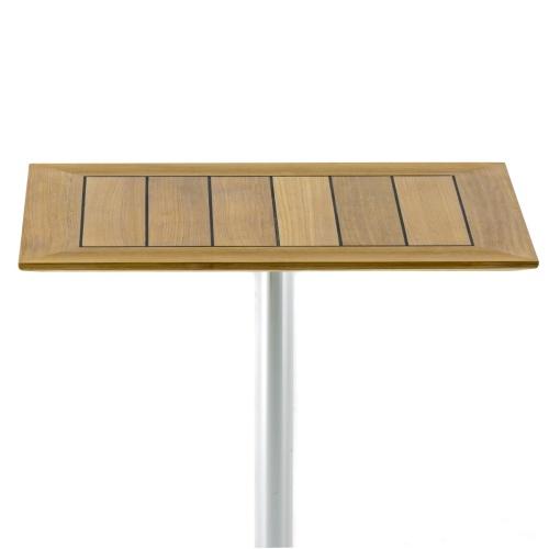 balcony height teak cafe table