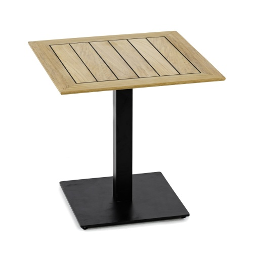 teak bistro table with base