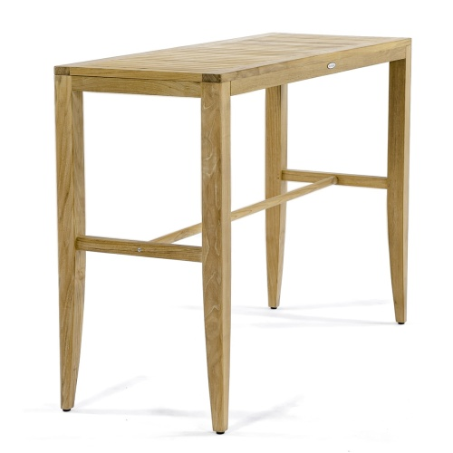 mid century teak console table