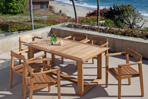 large teak extension tables