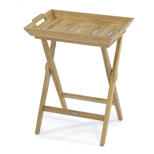 Teak Folding Tray Table