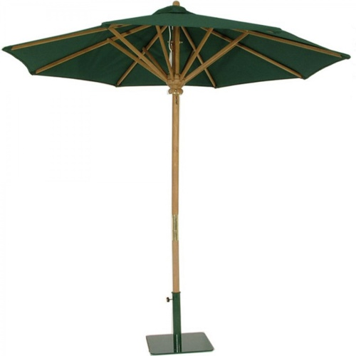 teak wood market umbrella