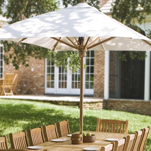 teak rectangular umbrellas
