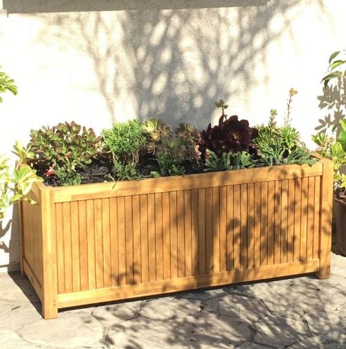 4 ft teak garden boxes