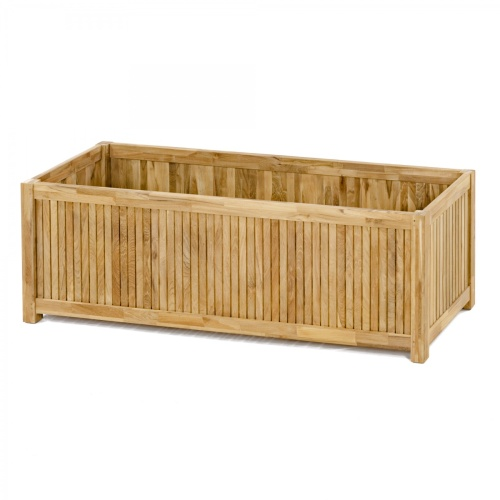 teak rectangular planter